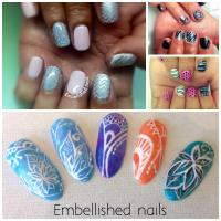 Embellished nails beauty makeup