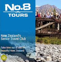 No.8 Tours - New Zealands Senior Travel Club