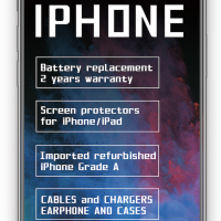 cool accessories (refurbished iPhones and fix service)