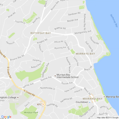 North shore auckland suburbs map